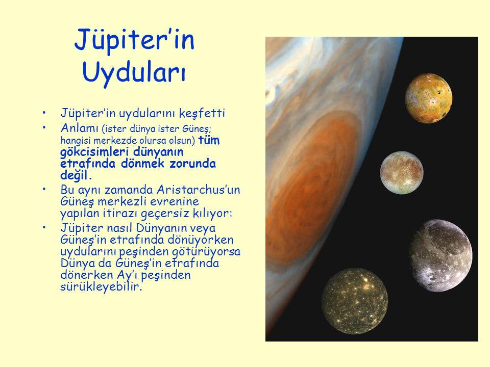 Jüpiter'in Uyduları Jüpiter'in uydularını keşfetti
