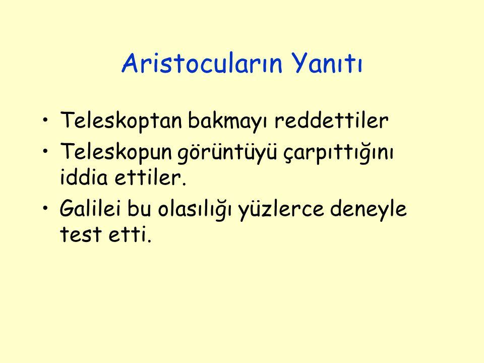 Aristocuların Yanıtı Teleskoptan bakmayı reddettiler