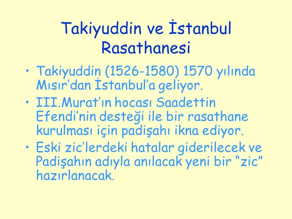 Takiyuddin ve İstanbul Rasathanesi