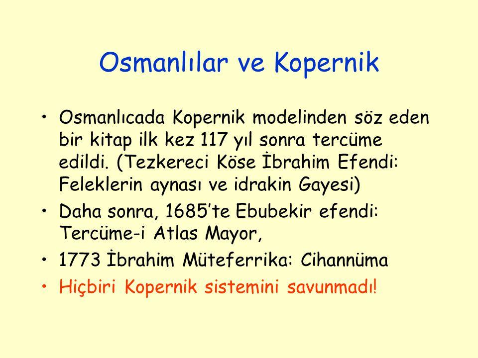 Osmanlılar ve Kopernik