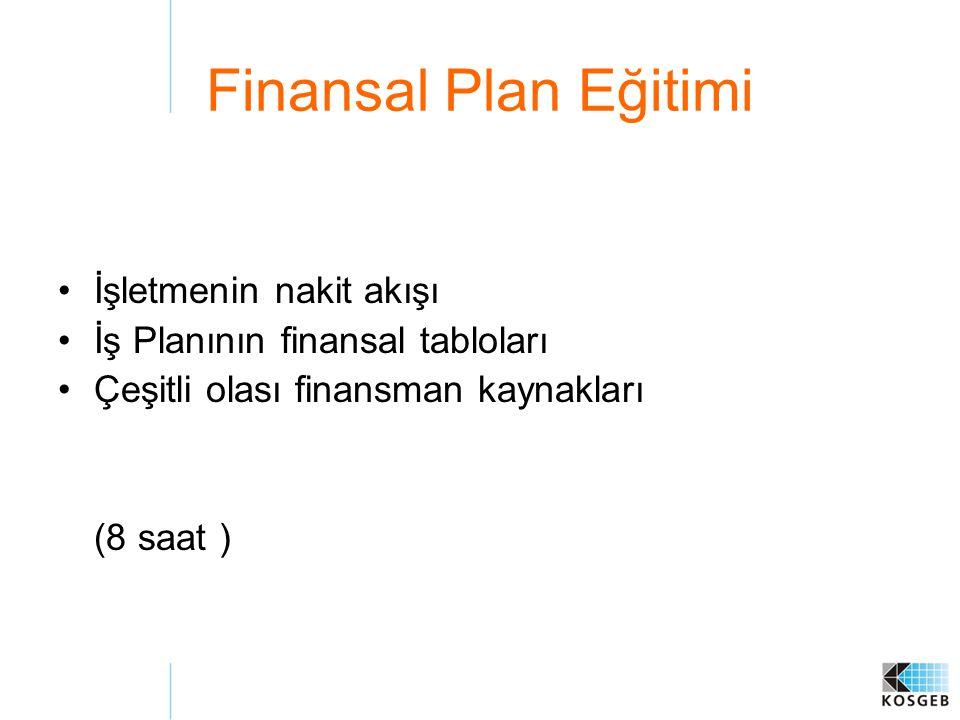 Finansal Plan Eğitimi İşletmenin nakit akışı