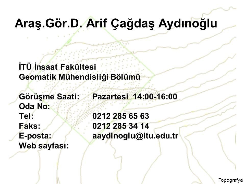 Araş.Gör.D. Arif Çağdaş Aydınoğlu