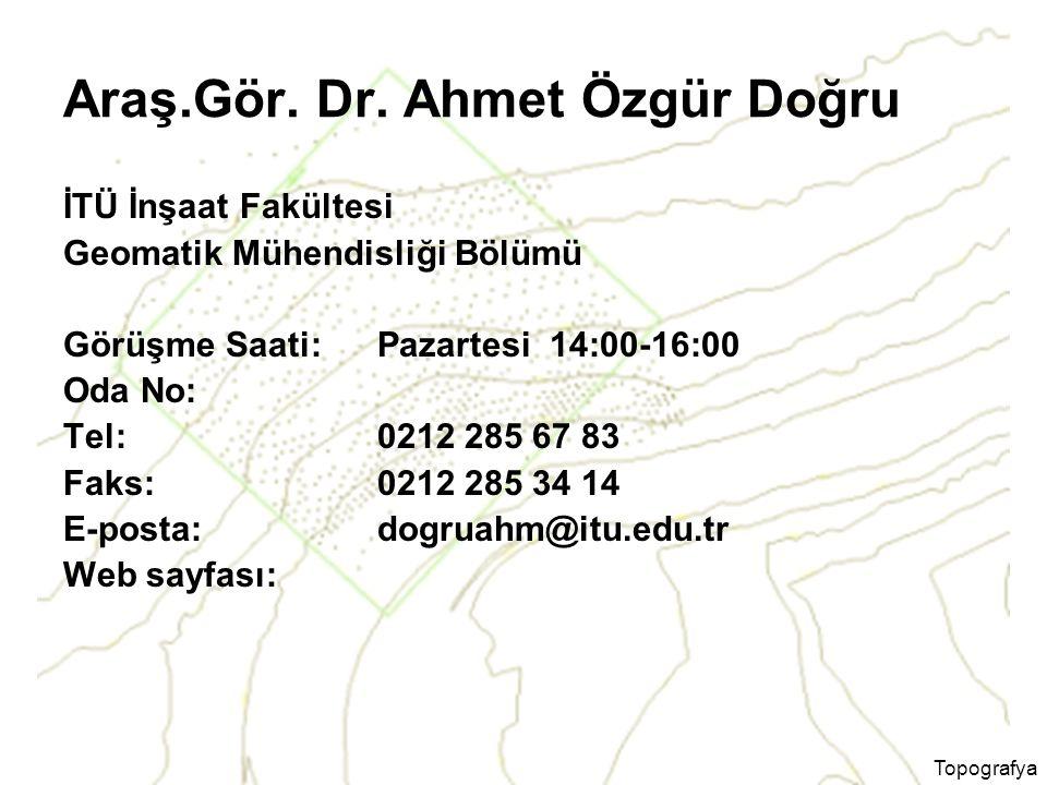Araş.Gör. Dr. Ahmet Özgür Doğru