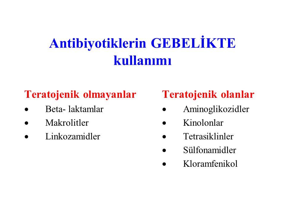 Antibiyotiklerin GEBELİKTE kullanımı