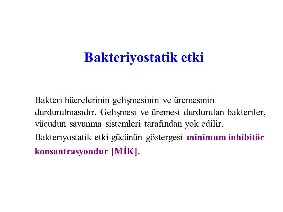 Bakteriyostatik etki