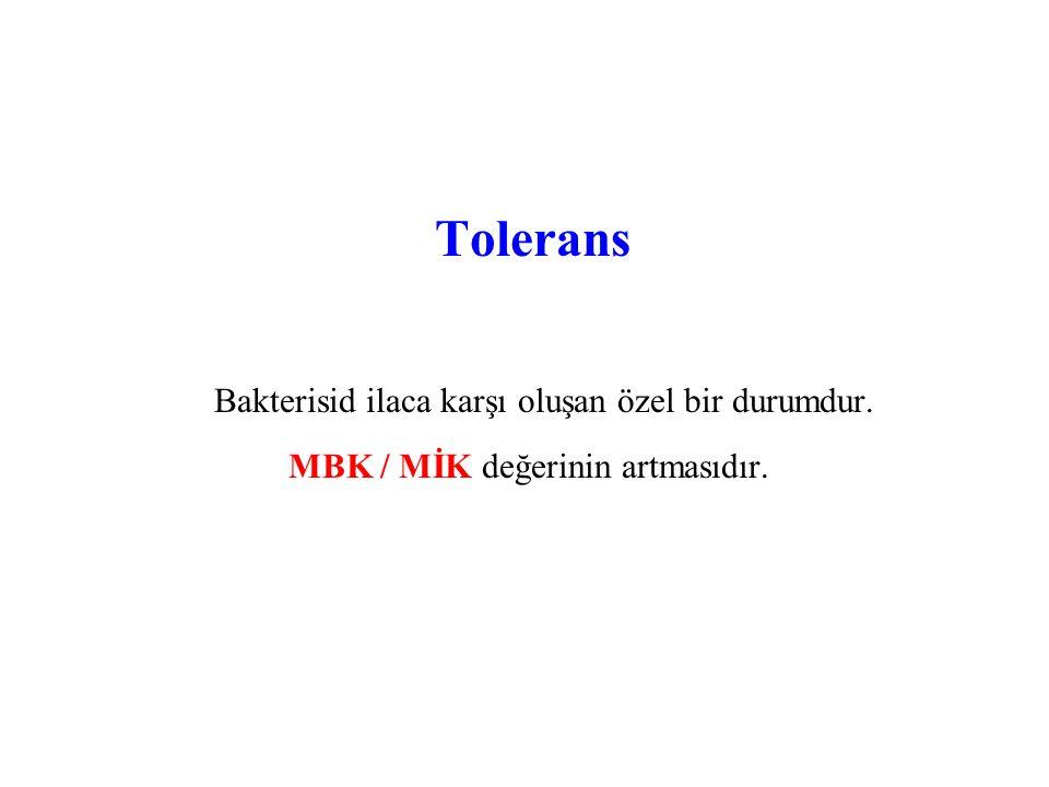 Tolerans Bakterisid ilaca karşı oluşan özel bir durumdur.