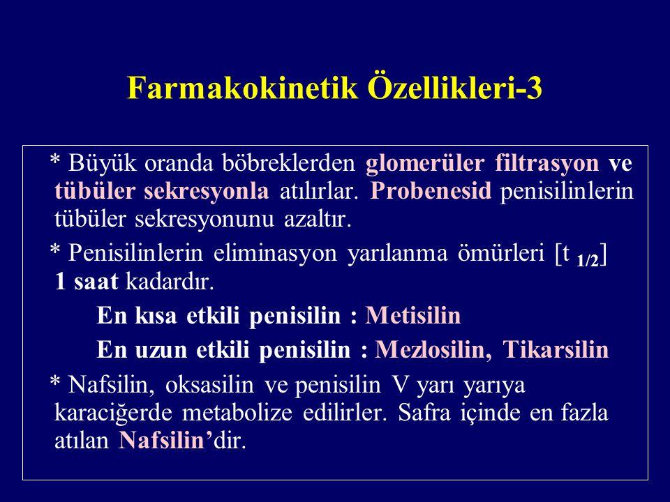 Farmakokinetik Özellikleri-3