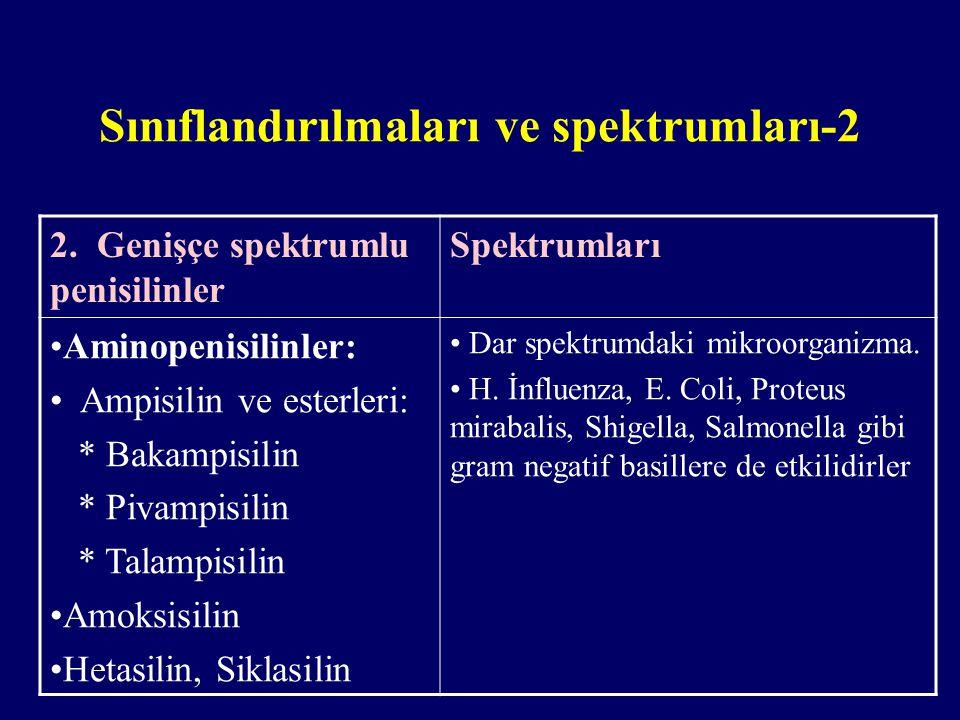 Sınıflandırılmaları ve spektrumları-2