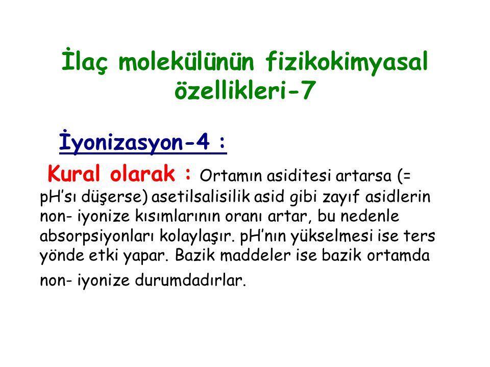 İlaç molekülünün fizikokimyasal özellikleri-7
