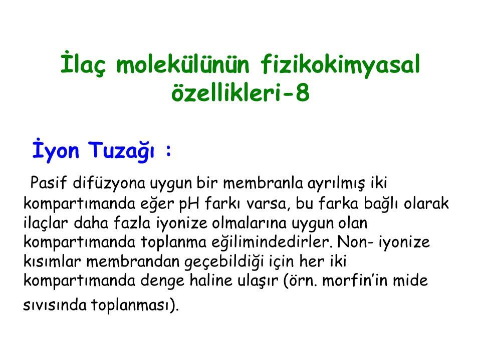 İlaç molekülünün fizikokimyasal özellikleri-8
