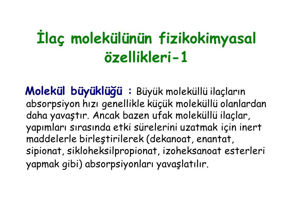 İlaç molekülünün fizikokimyasal özellikleri-1