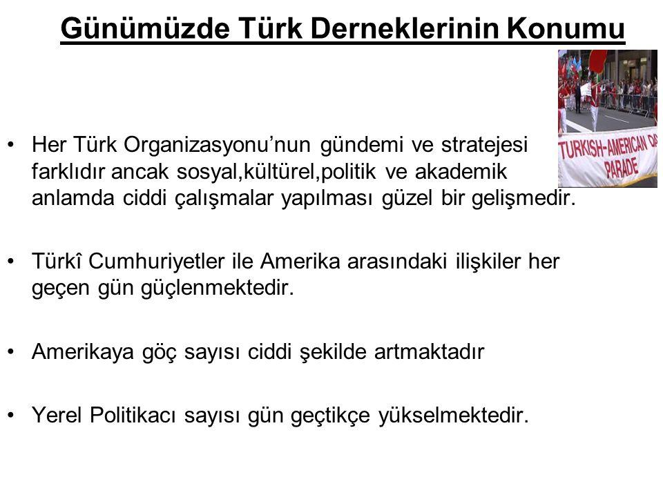 Günümüzde Türk Derneklerinin Konumu