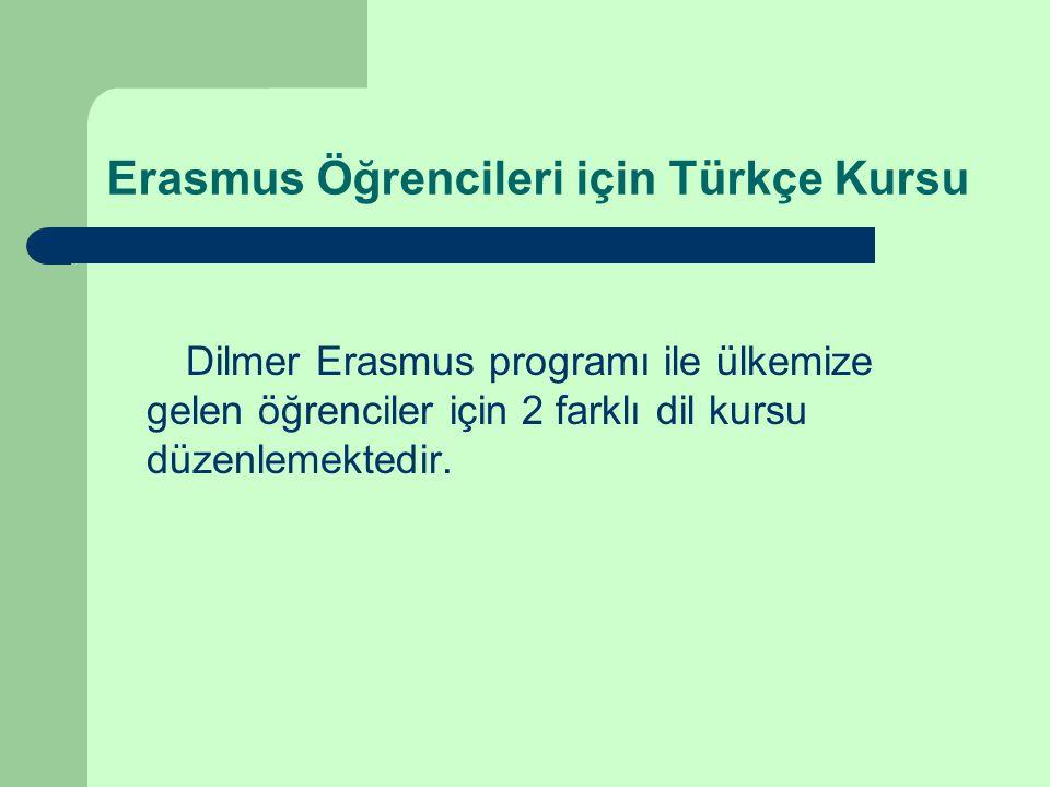 Erasmus Öğrencileri için Türkçe Kursu