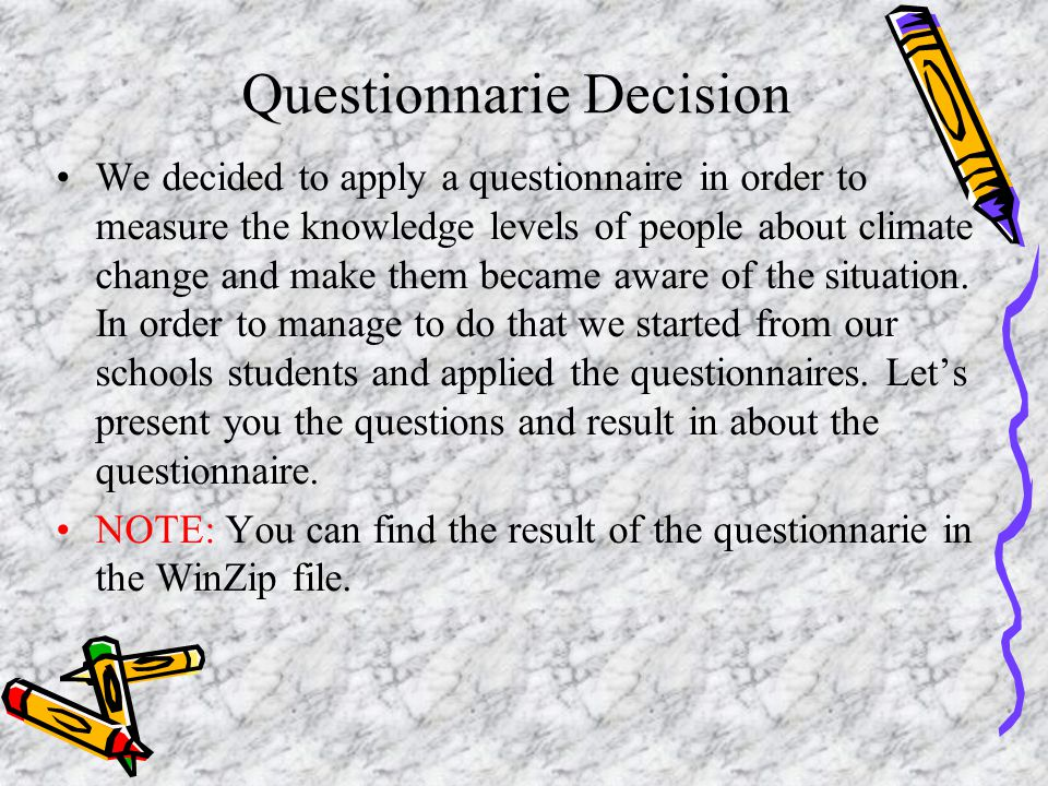 Questionnarie Decision