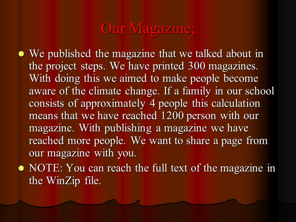 Our Magazine;