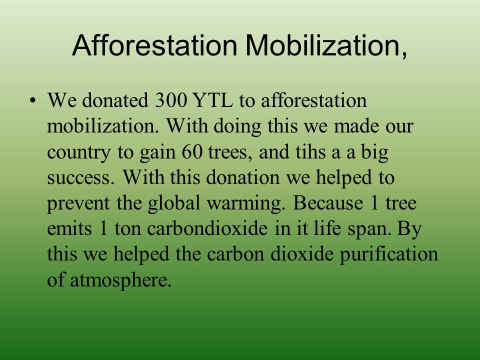 Afforestation Mobilization,