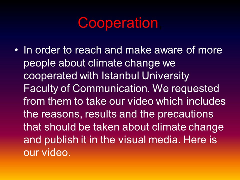 Cooperation,