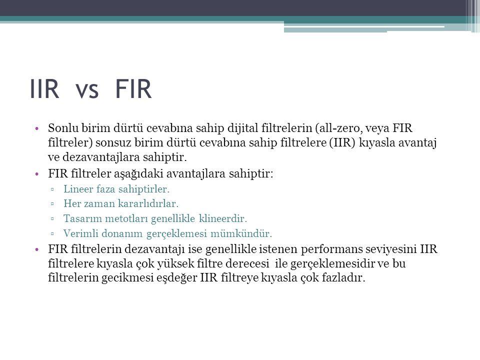 IIR vs FIR