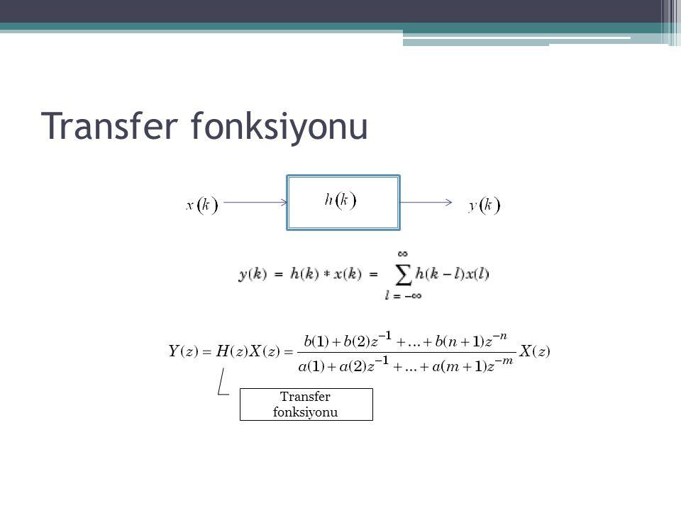 Transfer fonksiyonu Transfer fonksiyonu