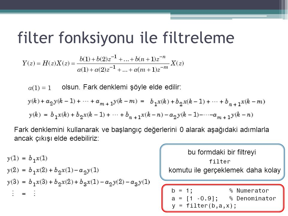 filter fonksiyonu ile filtreleme