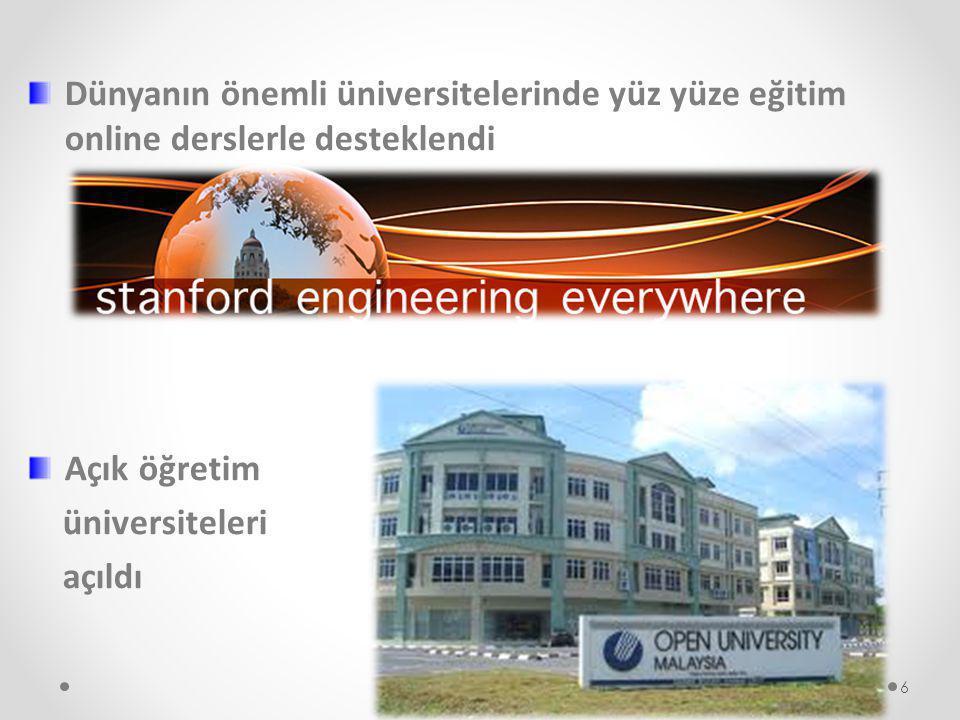 Dünyanın önemli üniversitelerinde yüz yüze eğitim online derslerle desteklendi