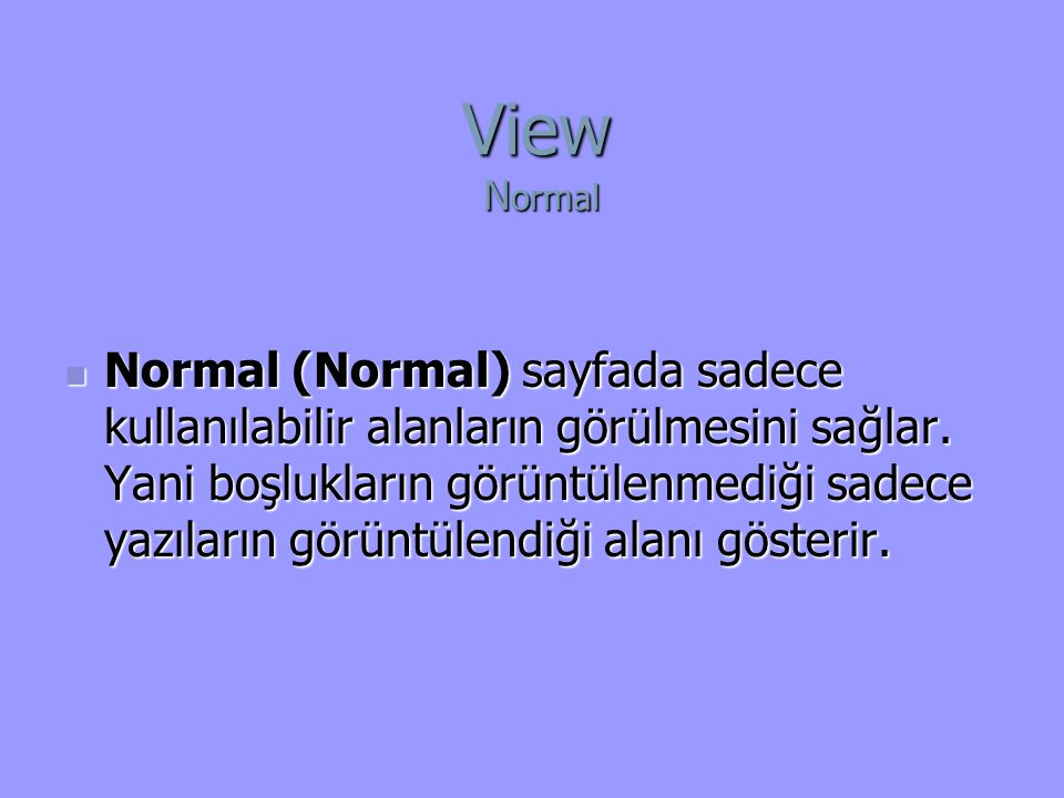 View Normal