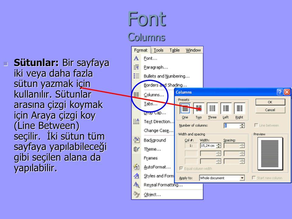 Font Columns