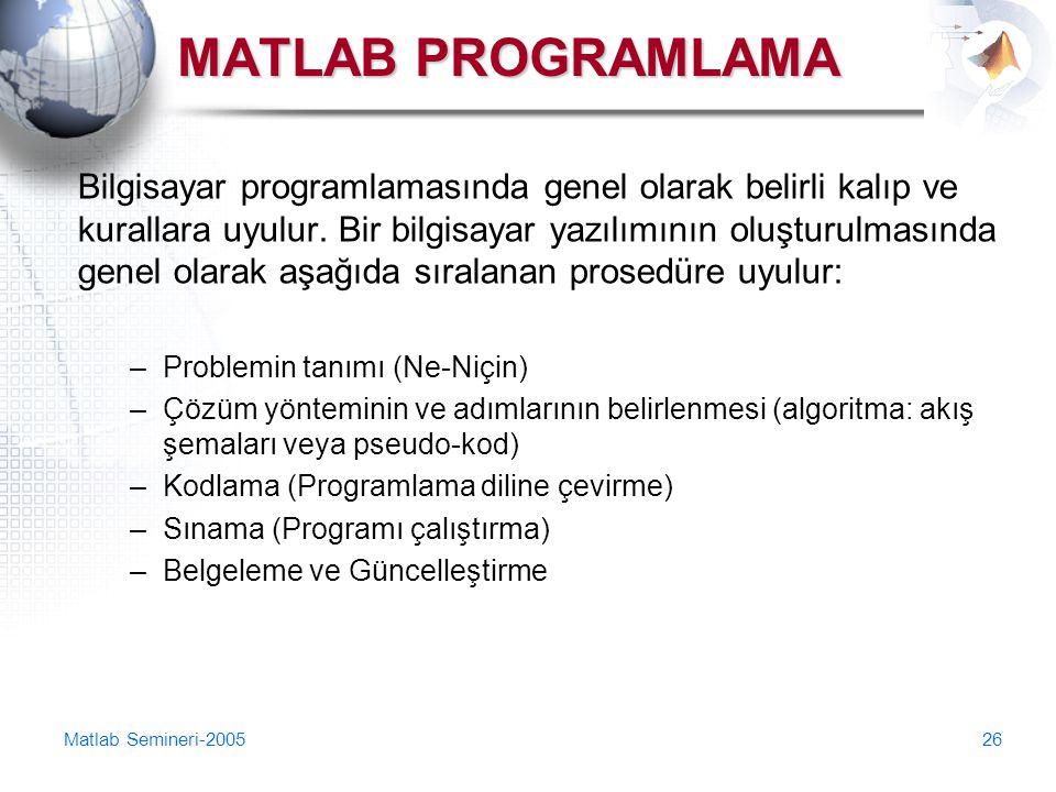 MATLAB PROGRAMLAMA