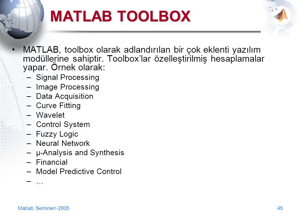 MATLAB TOOLBOX