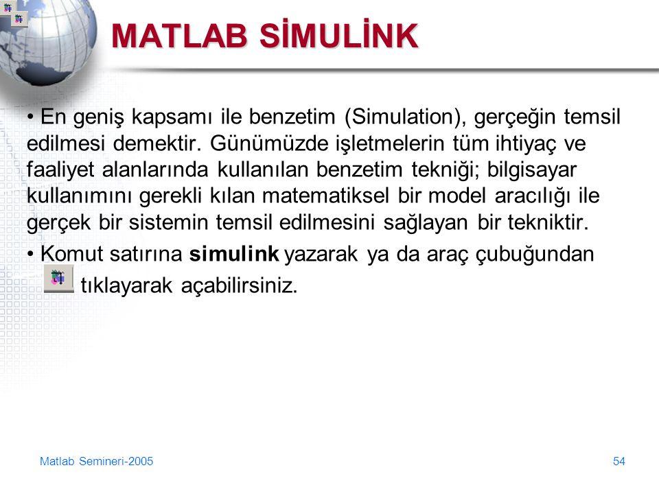 MATLAB SİMULİNK