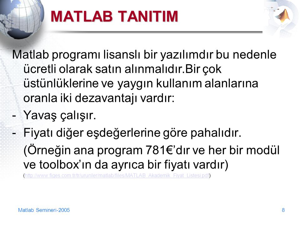 MATLAB TANITIM