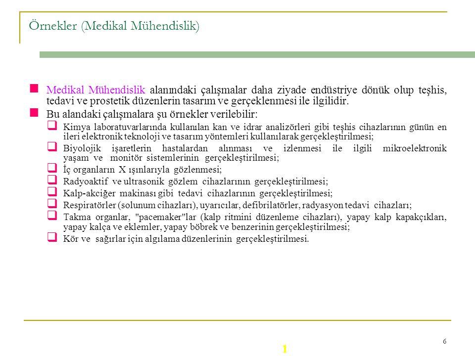 Örnekler (Medikal Mühendislik)