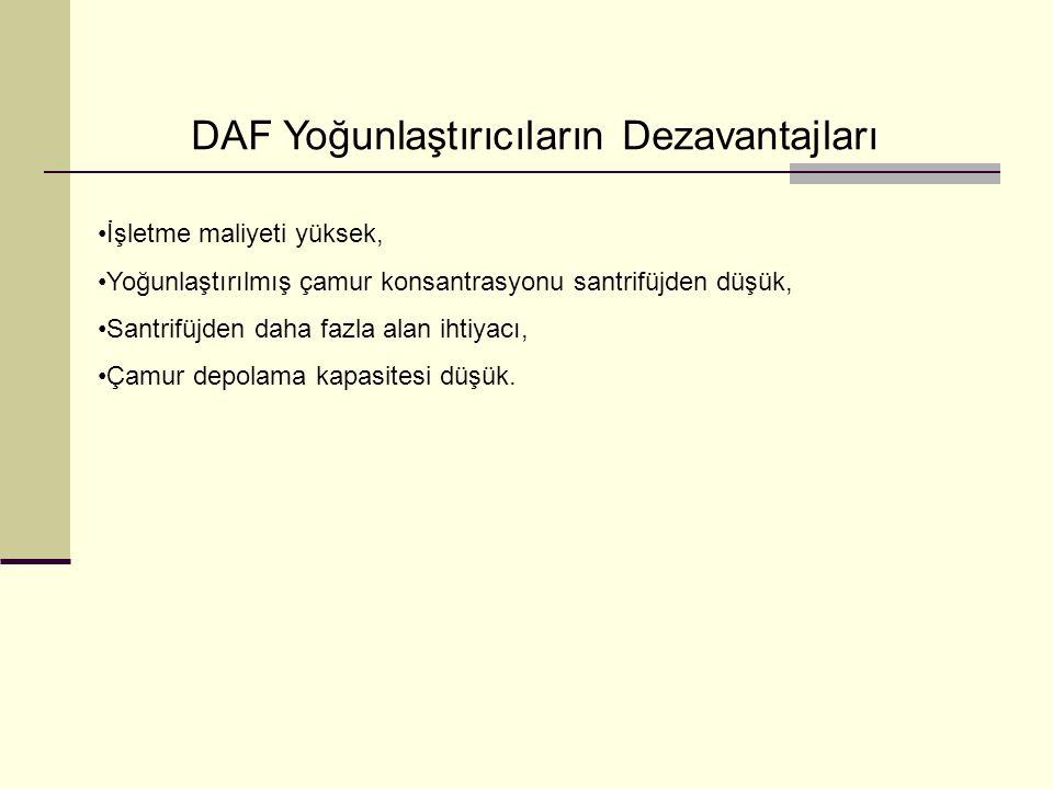 DAF Yoğunlaştırıcıların Dezavantajları