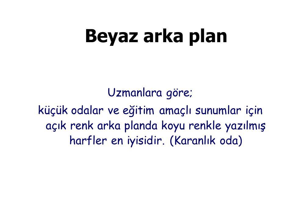 Beyaz arka plan