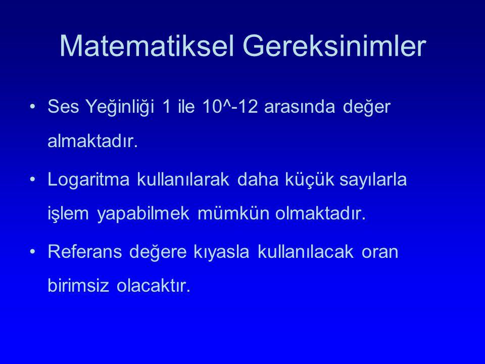 Matematiksel Gereksinimler