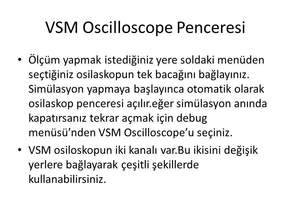 VSM Oscilloscope Penceresi