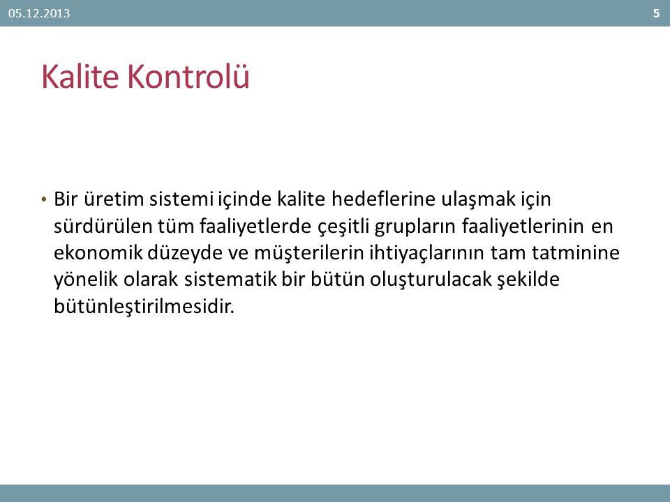 05.12.2013 Kalite Kontrolü.