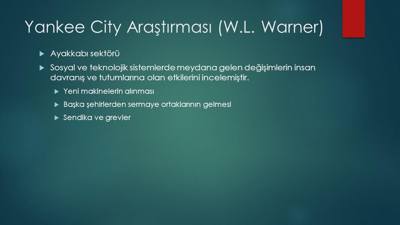 Yankee City Araştırması (W.L. Warner)