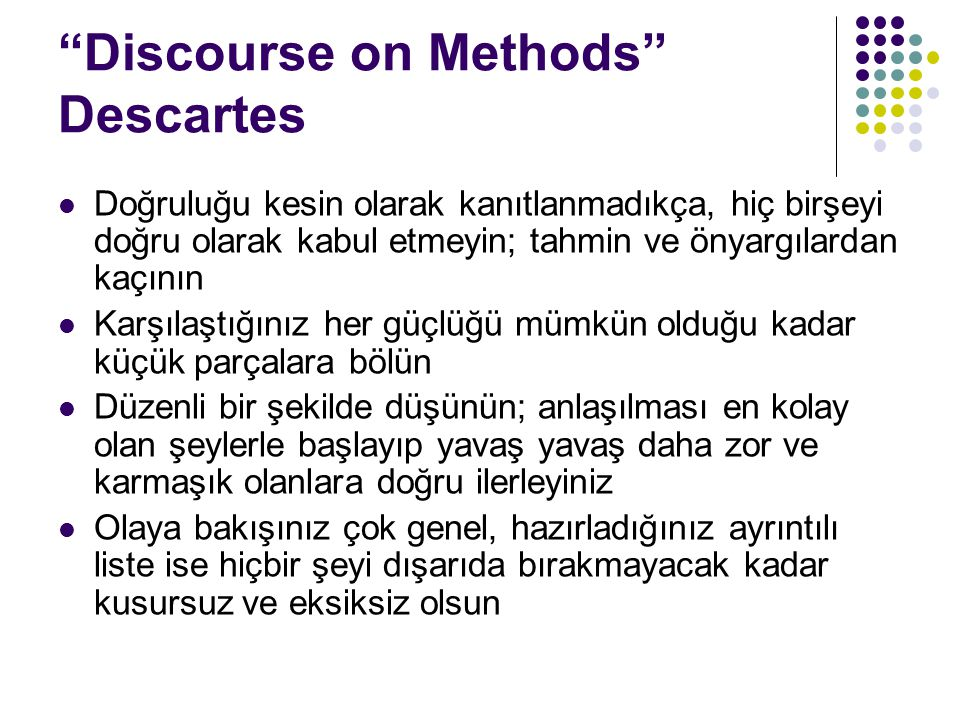 Discourse on Methods Descartes