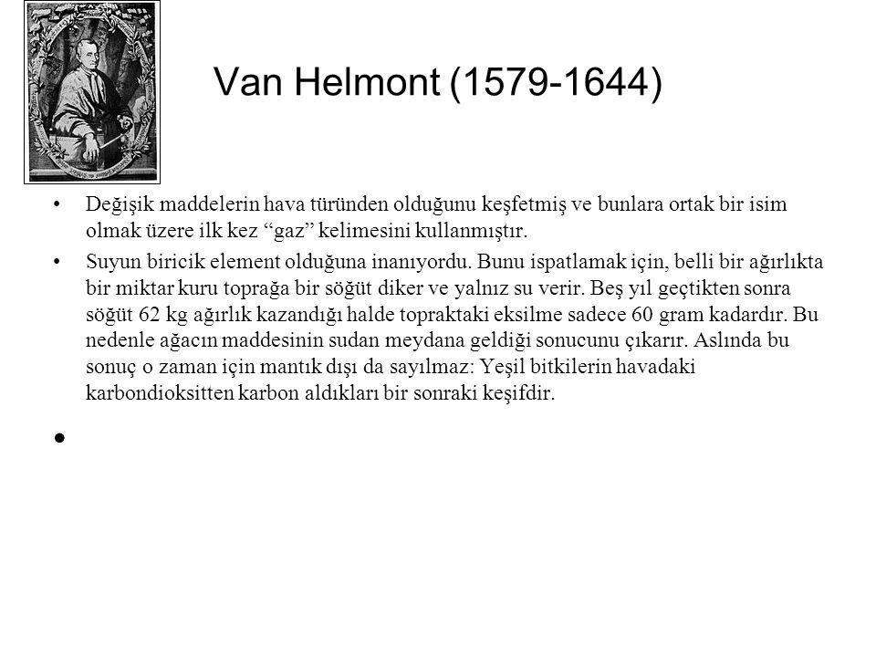 Van Helmont (1579-1644)