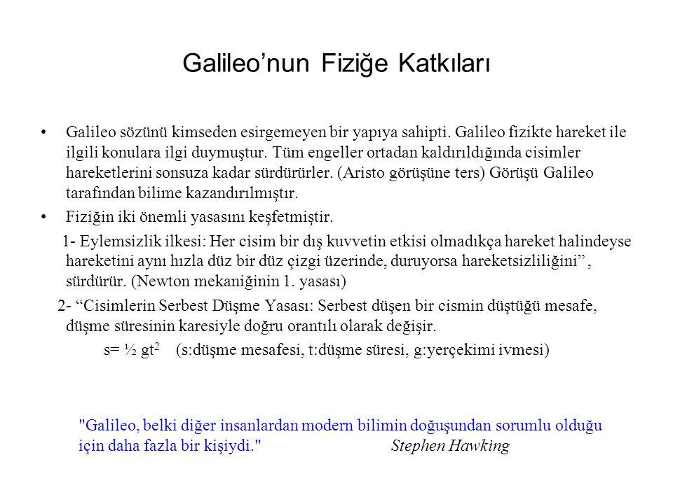 Galileo'nun Fiziğe Katkıları