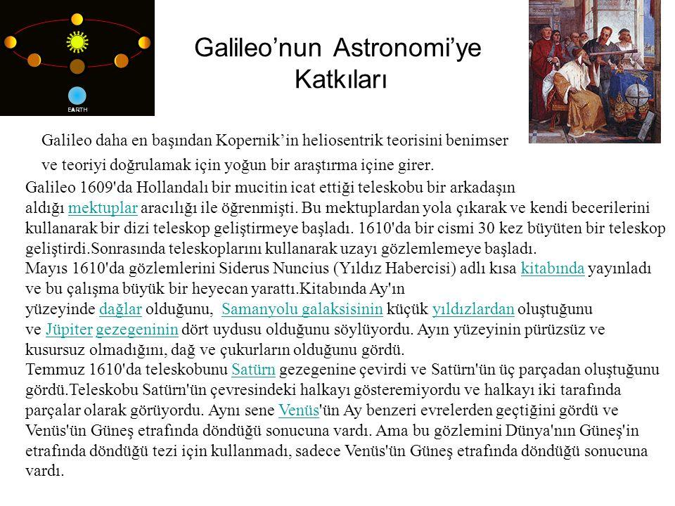 Galileo'nun Astronomi'ye Katkıları