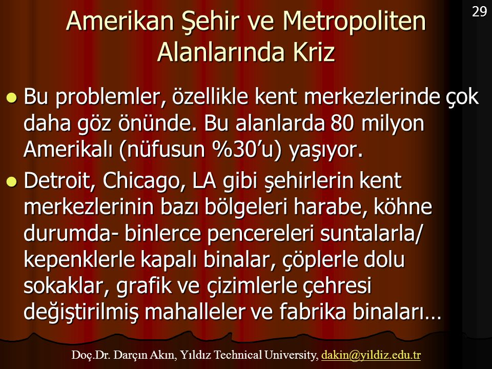 Amerikan Şehir ve Metropoliten Alanlarında Kriz