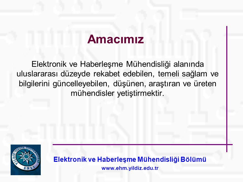 Elektronik ve Haberleşme Mühendisliği Bölümü www.ehm.yildiz.edu.tr