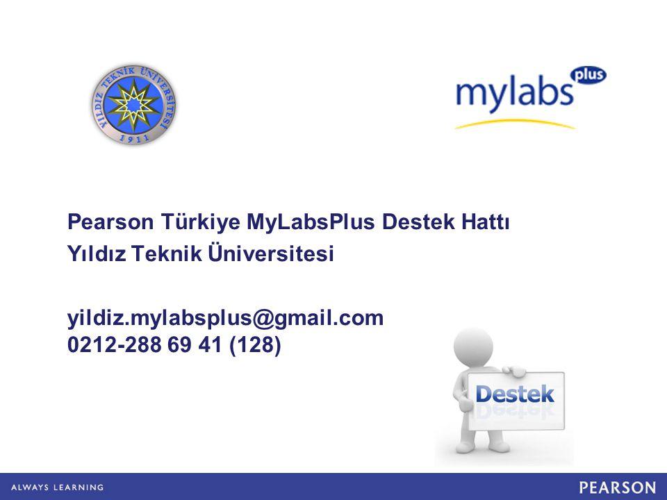 Pearson Türkiye MyLabsPlus Destek Hattı
