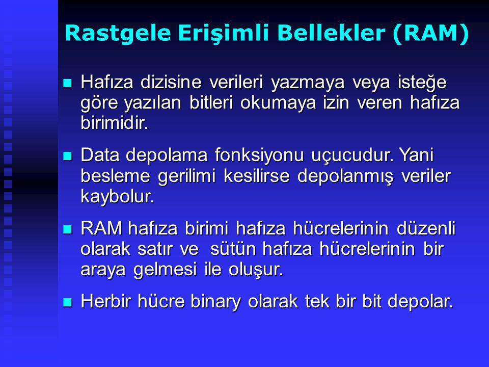 Rastgele Erişimli Bellekler (RAM)