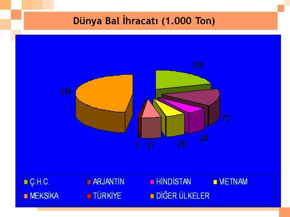 Dünya Bal İhracatı (1.000 Ton)