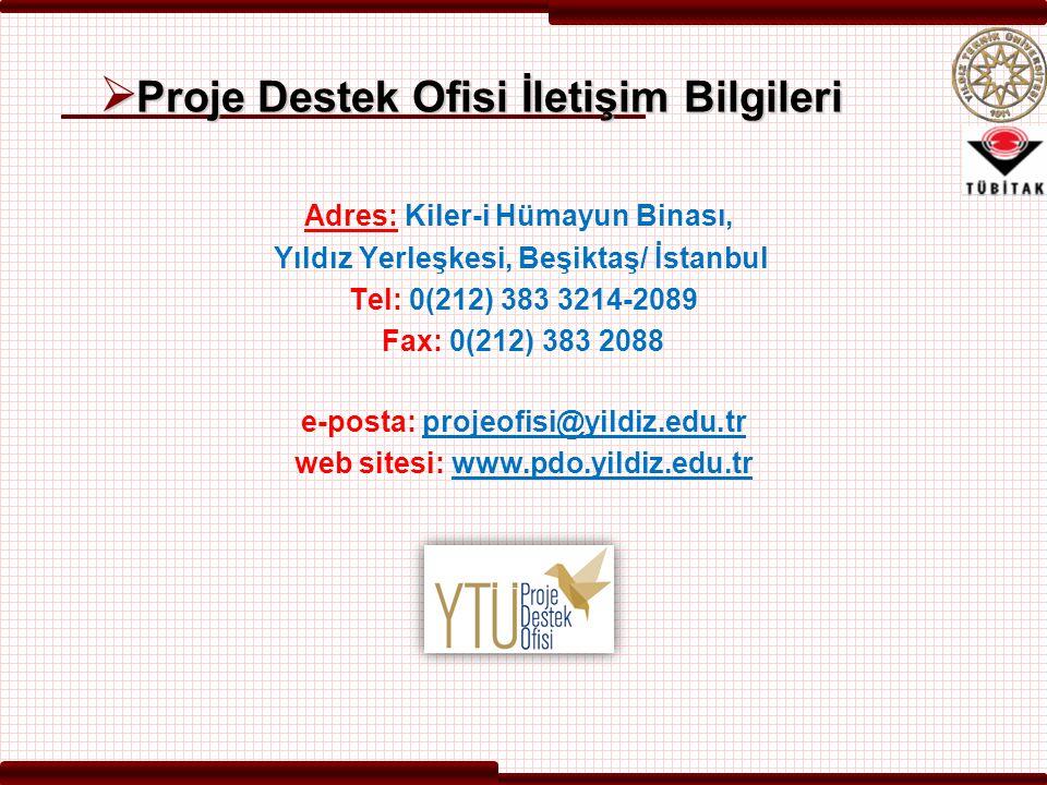 Proje Destek Ofisi İletişim Bilgileri