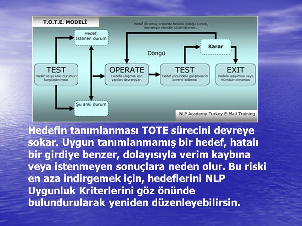 Hedefin tanımlanması TOTE sürecini devreye sokar