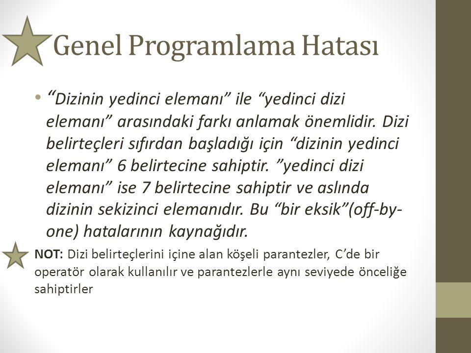 Genel Programlama Hatası